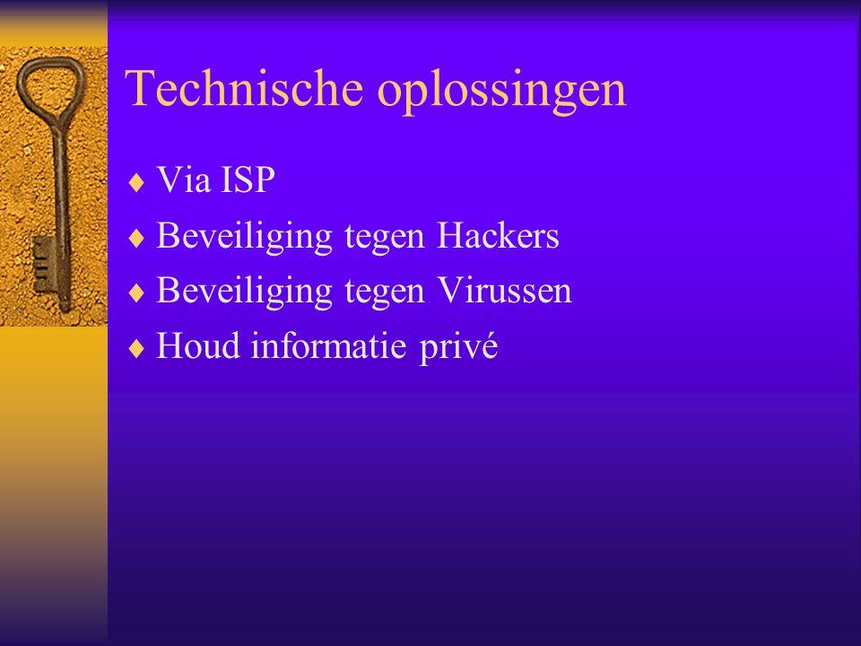 Technische oplossingen