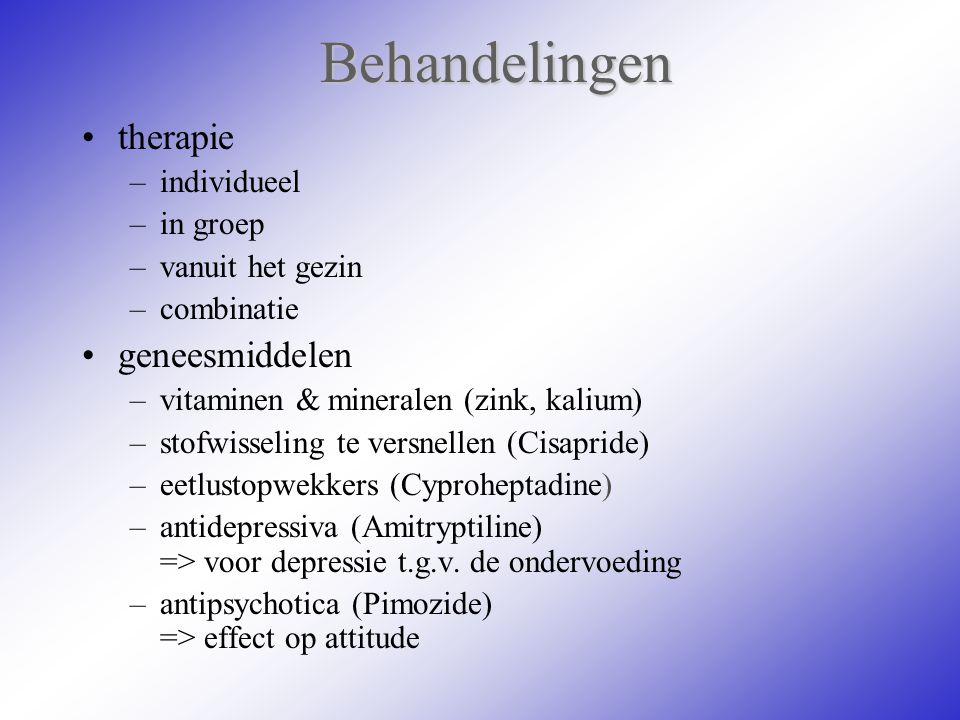 Behandelingen therapie geneesmiddelen individueel in groep