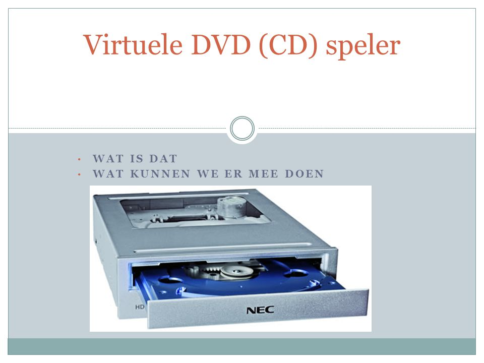 Virtuele DVD (CD) speler
