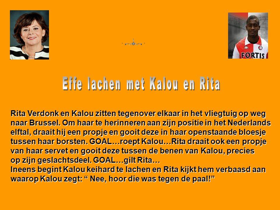 Effe lachen met Kalou en Rita