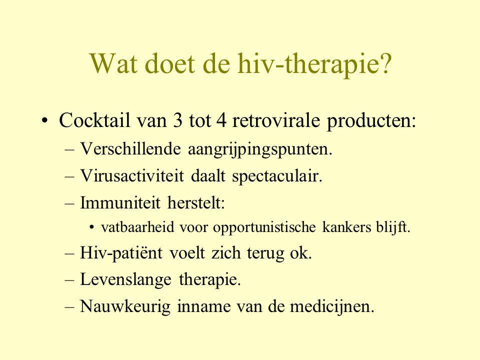 Wat doet de hiv-therapie
