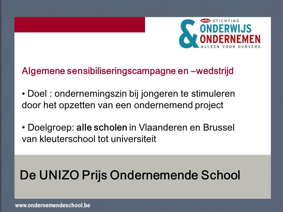 De UNIZO Prijs Ondernemende School