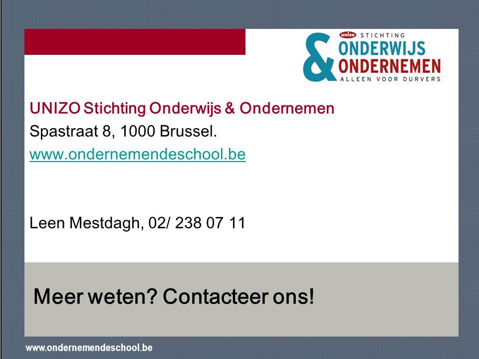 Meer weten Contacteer ons!
