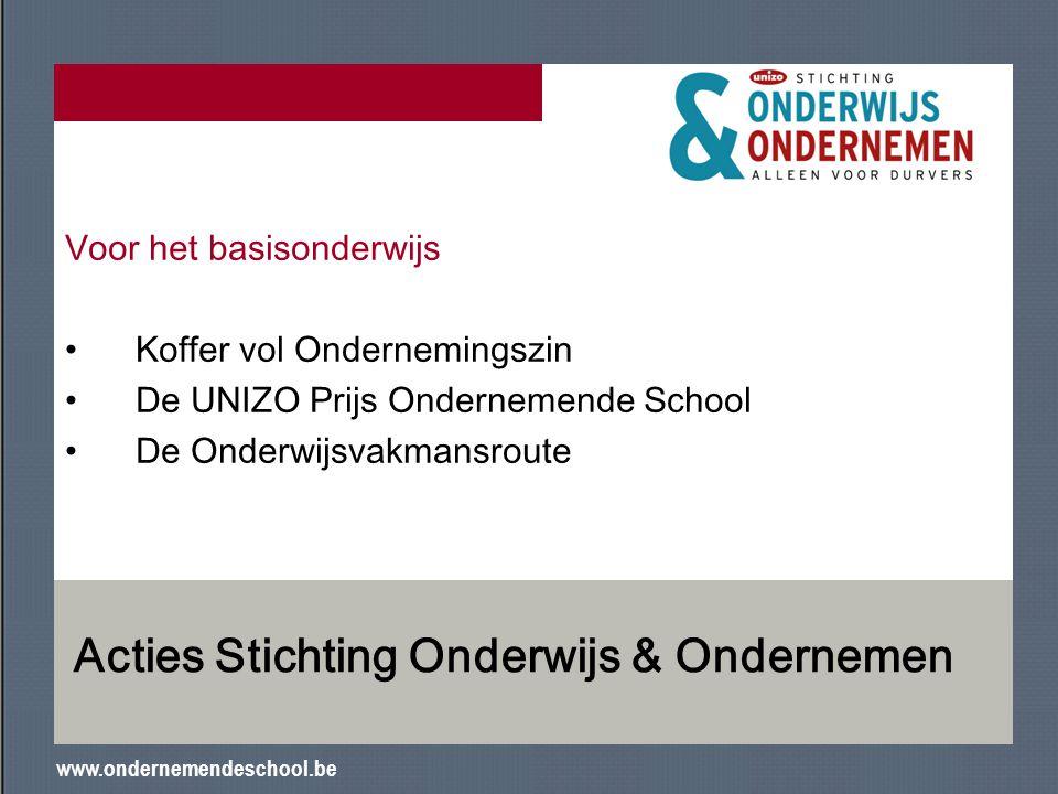 Acties Stichting Onderwijs & Ondernemen