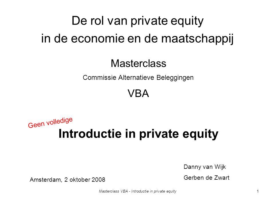 De rol van private equity in de economie en de maatschappij