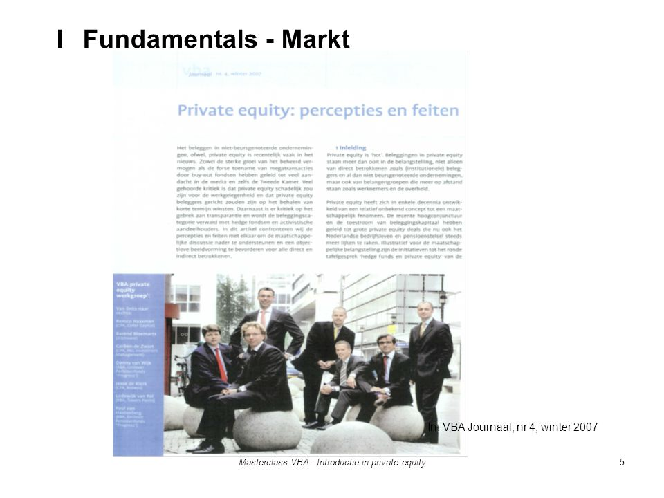 I Fundamentals - Markt In: VBA Journaal, nr 4, winter 2007
