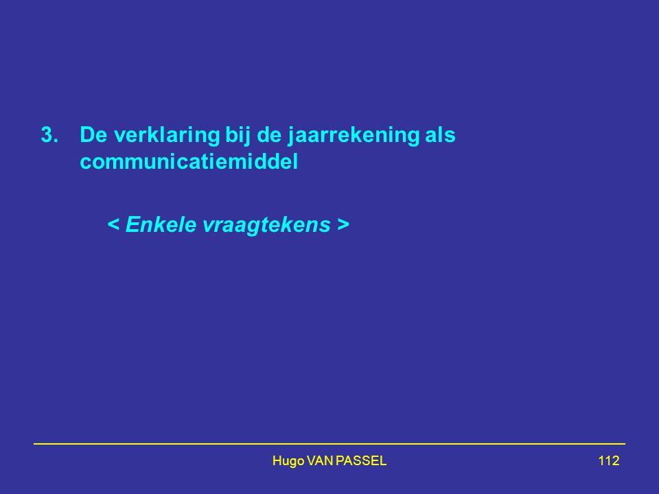 De verklaring bij de jaarrekening als communicatiemiddel