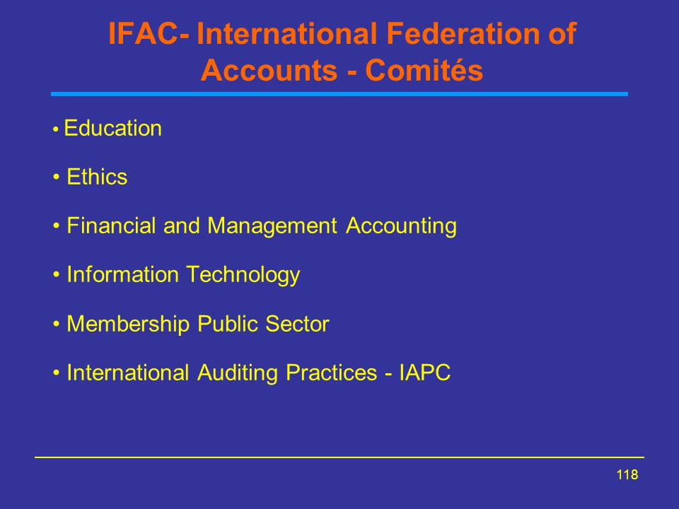 IFAC- International Federation of Accounts - Comités