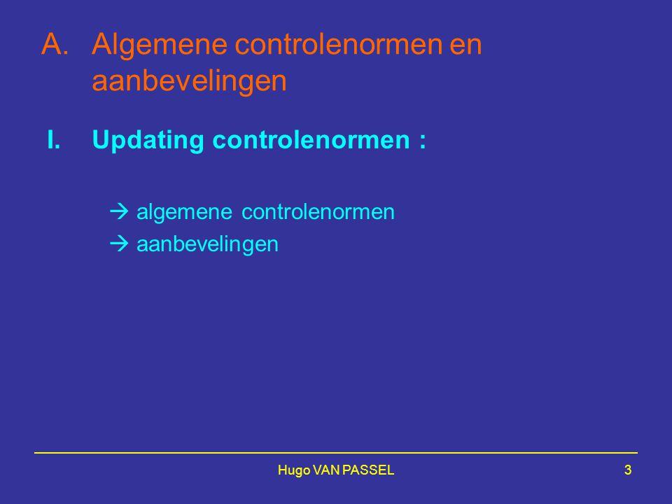 Algemene controlenormen en aanbevelingen