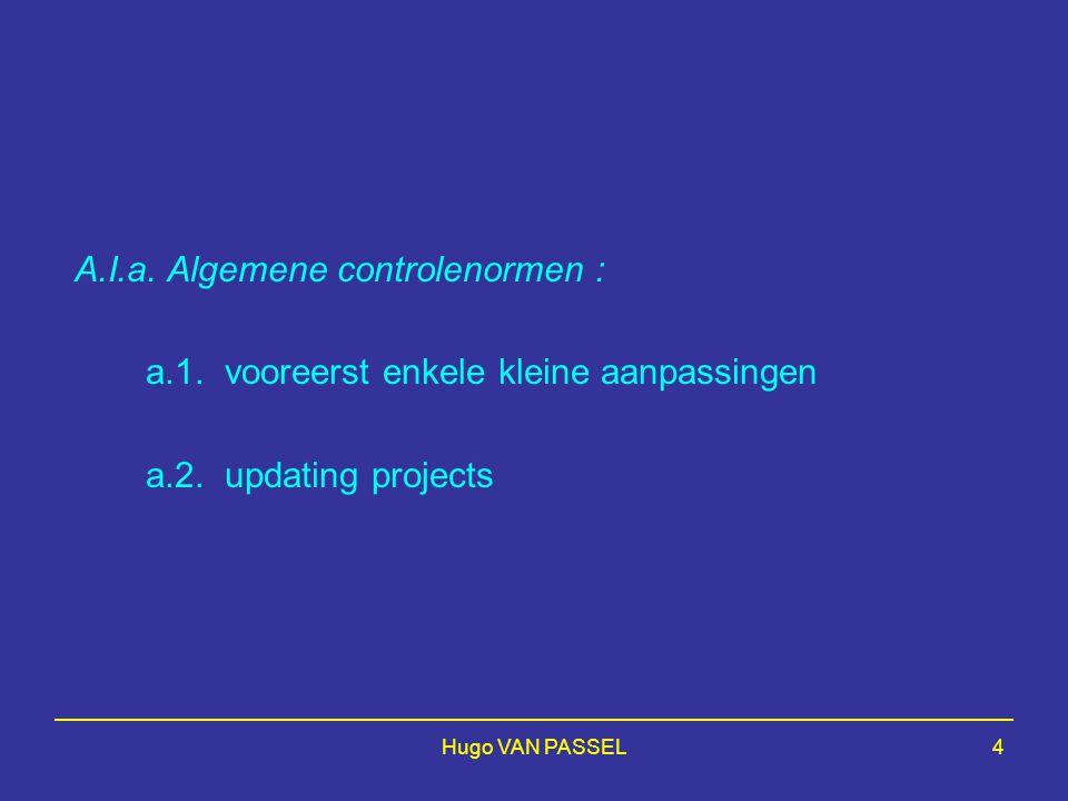 A.I.a. Algemene controlenormen :