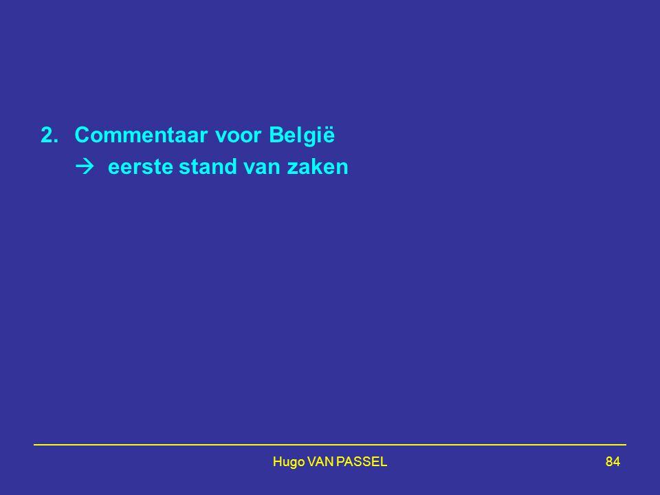 Commentaar voor België  eerste stand van zaken