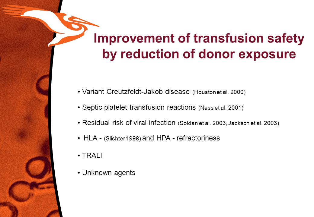 Improvement of transfusion safety by reduction of donor exposure