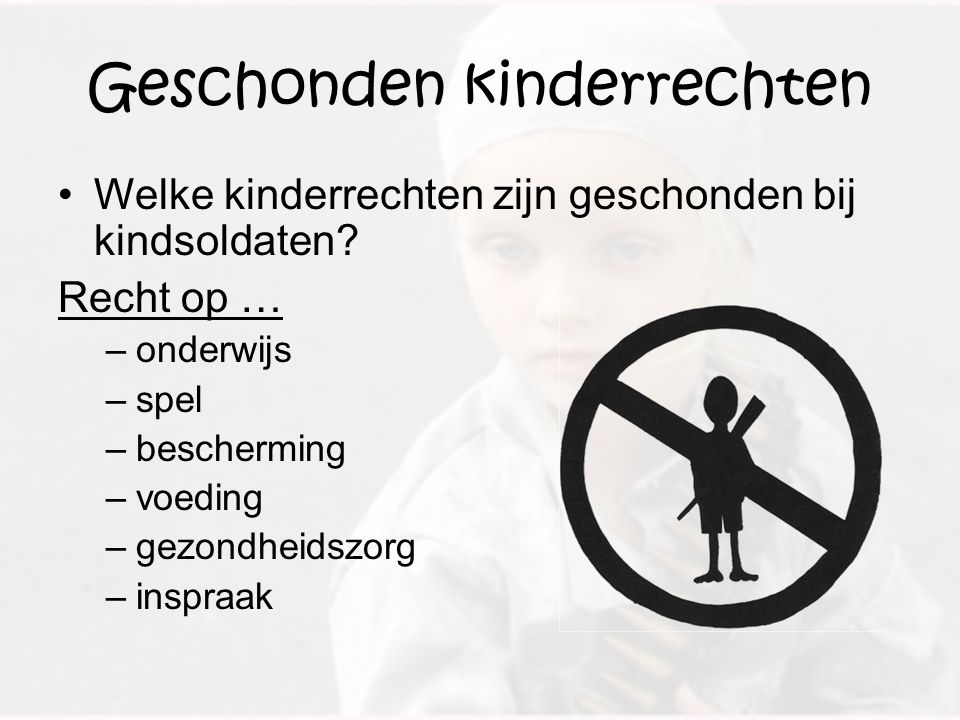 Geschonden kinderrechten