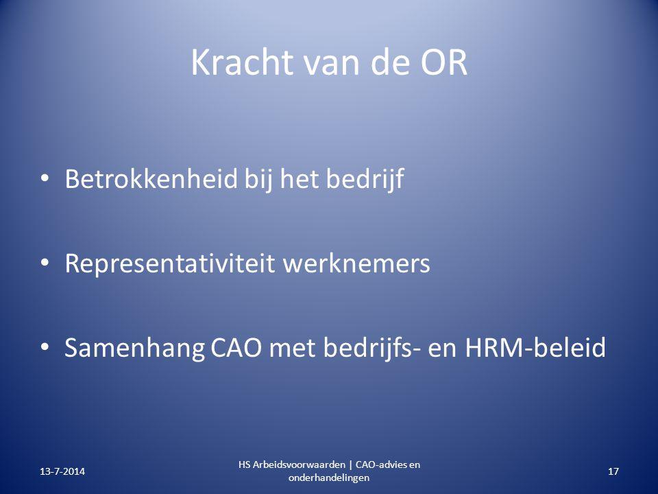 HS Arbeidsvoorwaarden | CAO-advies en onderhandelingen