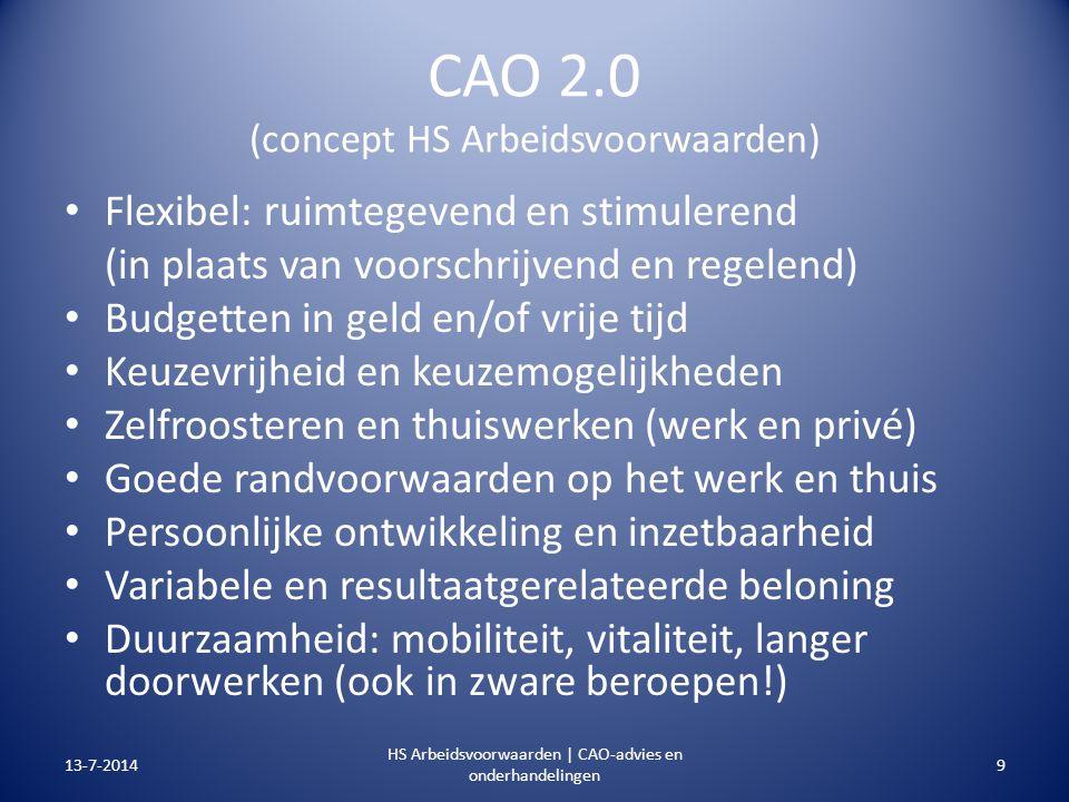 CAO 2.0 (concept HS Arbeidsvoorwaarden)