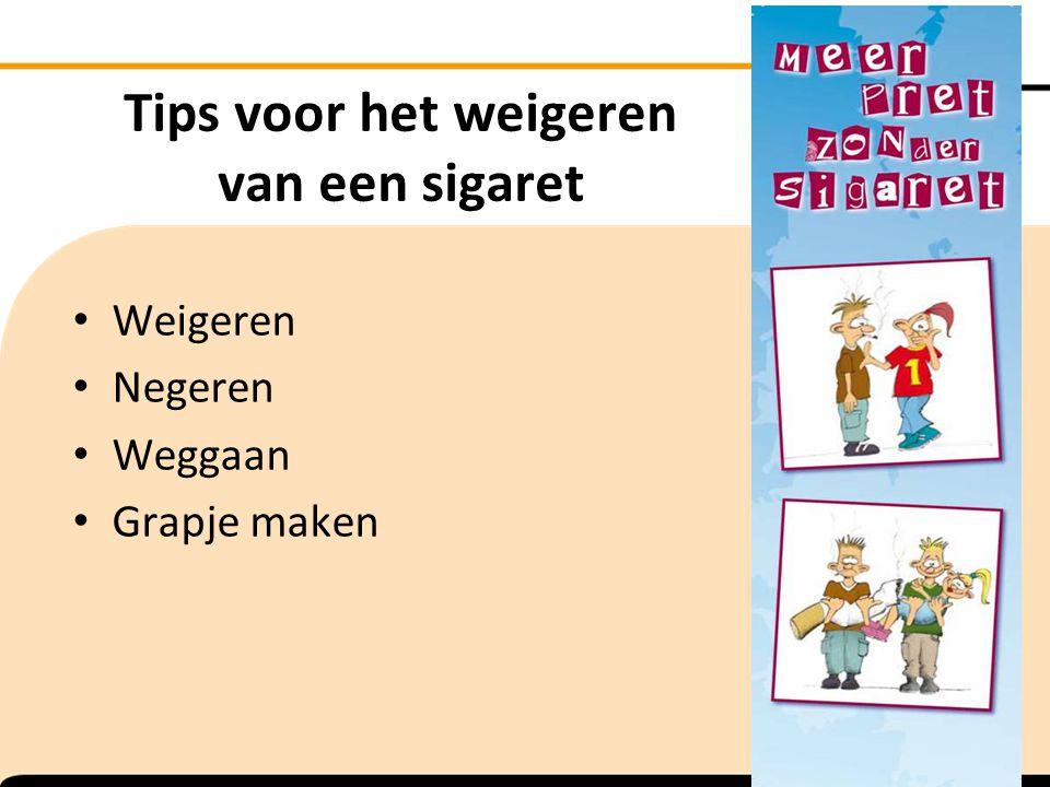 Tips voor het weigeren van een sigaret