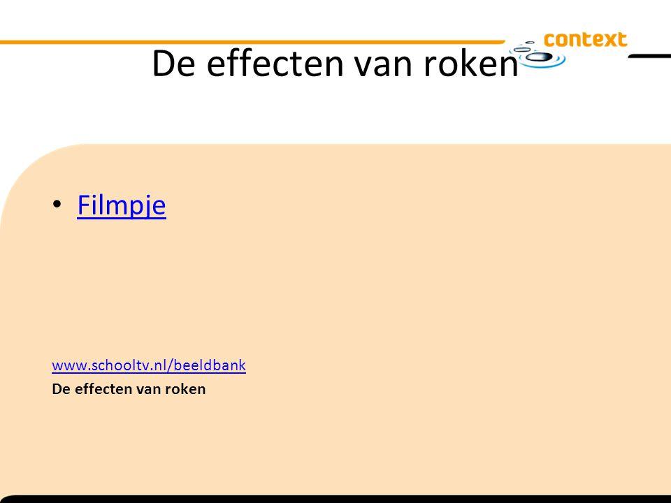 De effecten van roken Filmpje www.schooltv.nl/beeldbank