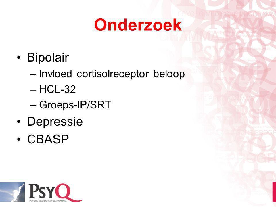 Onderzoek Bipolair Depressie CBASP Invloed cortisolreceptor beloop