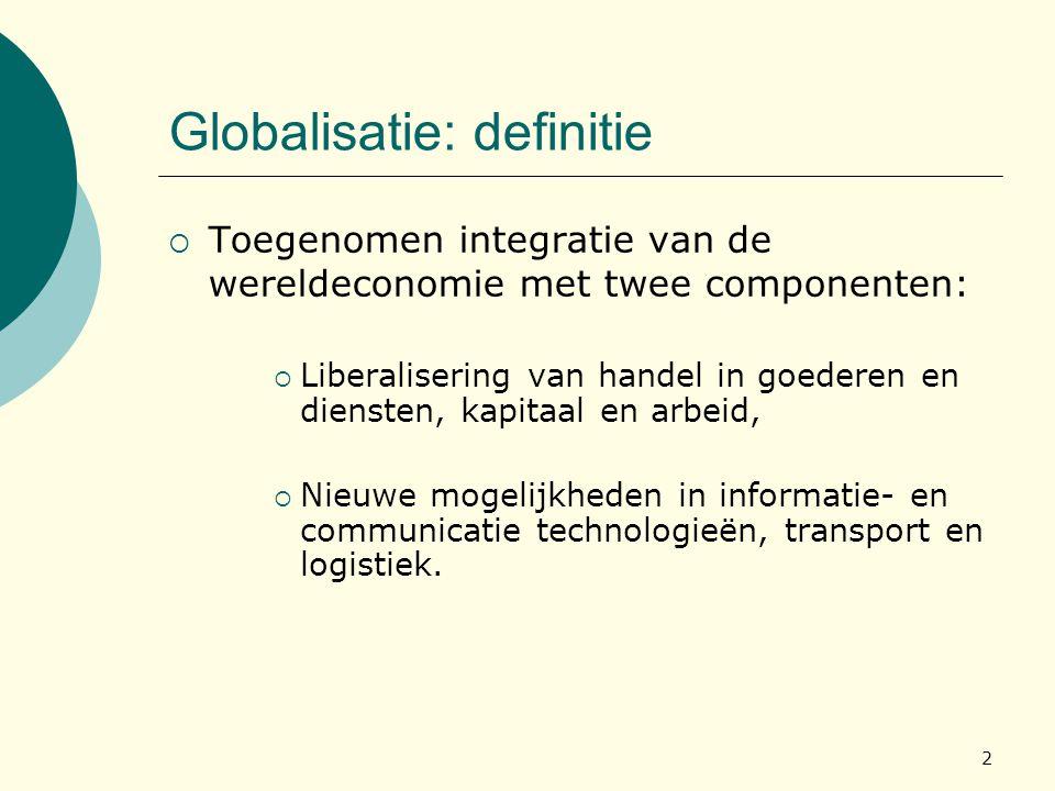 Globalisatie: definitie