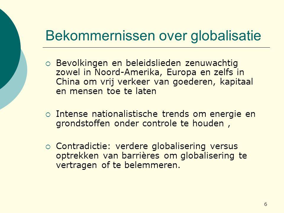 Bekommernissen over globalisatie