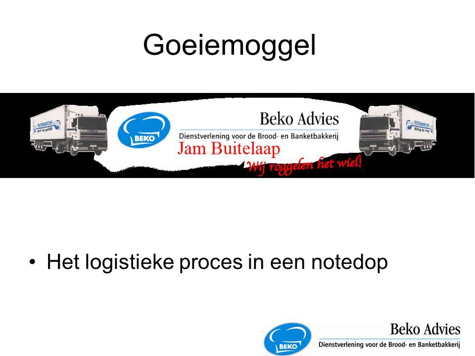 Goeiemoggel Het logistieke proces in een notedop