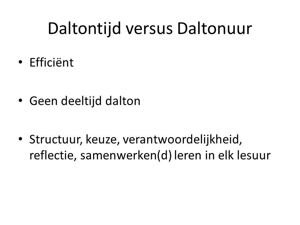 Daltontijd versus Daltonuur