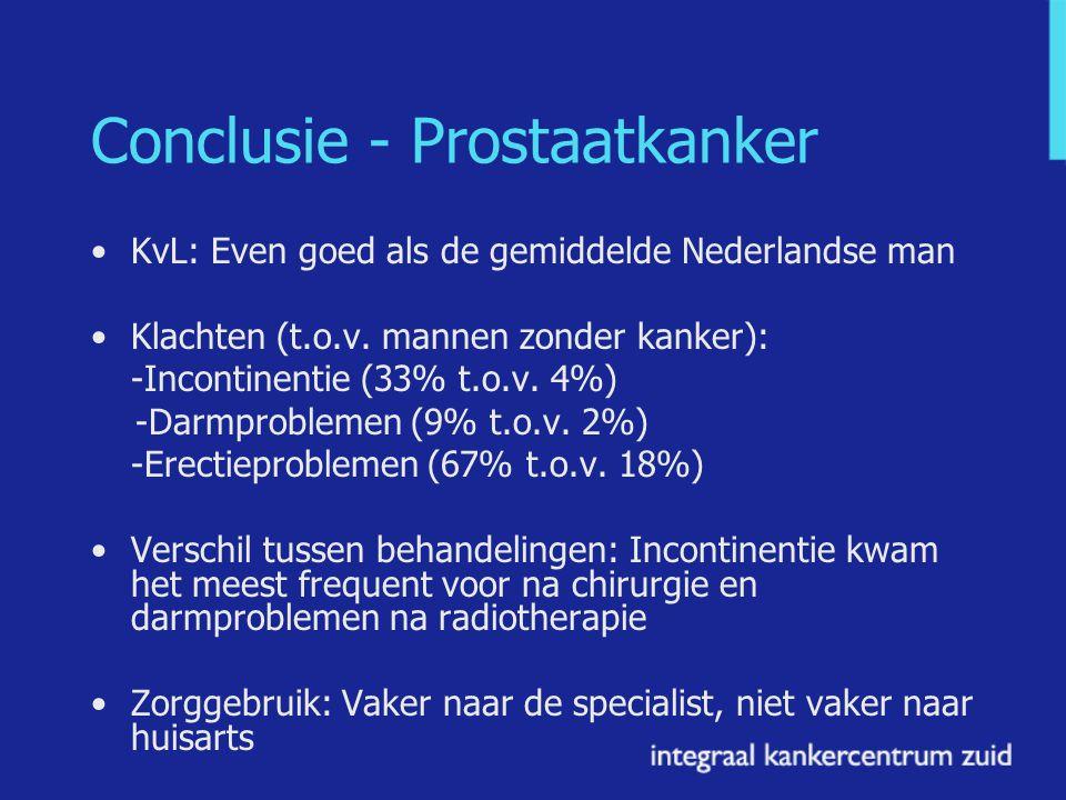 Conclusie - Prostaatkanker