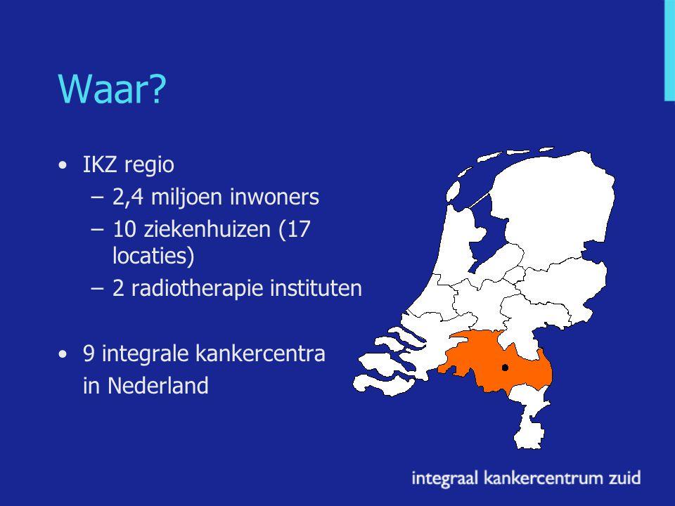 Waar IKZ regio 2,4 miljoen inwoners 10 ziekenhuizen (17 locaties)