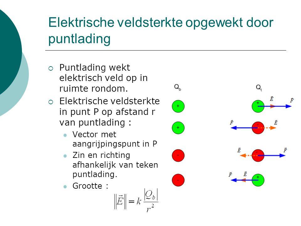 Elektrische veldsterkte opgewekt door puntlading