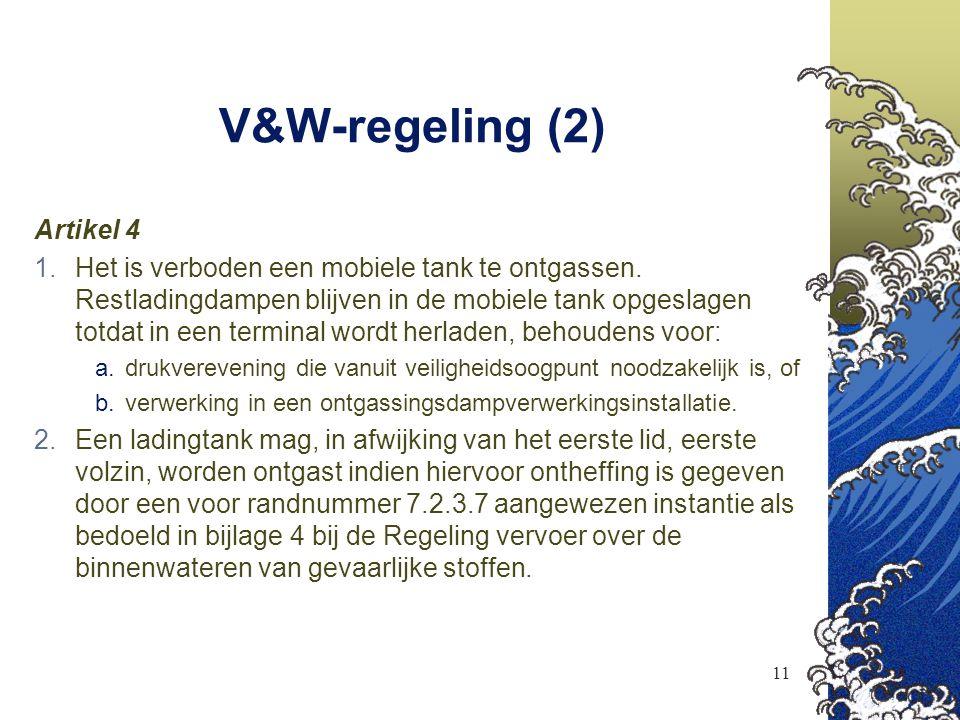 V&W-regeling (2) Artikel 4
