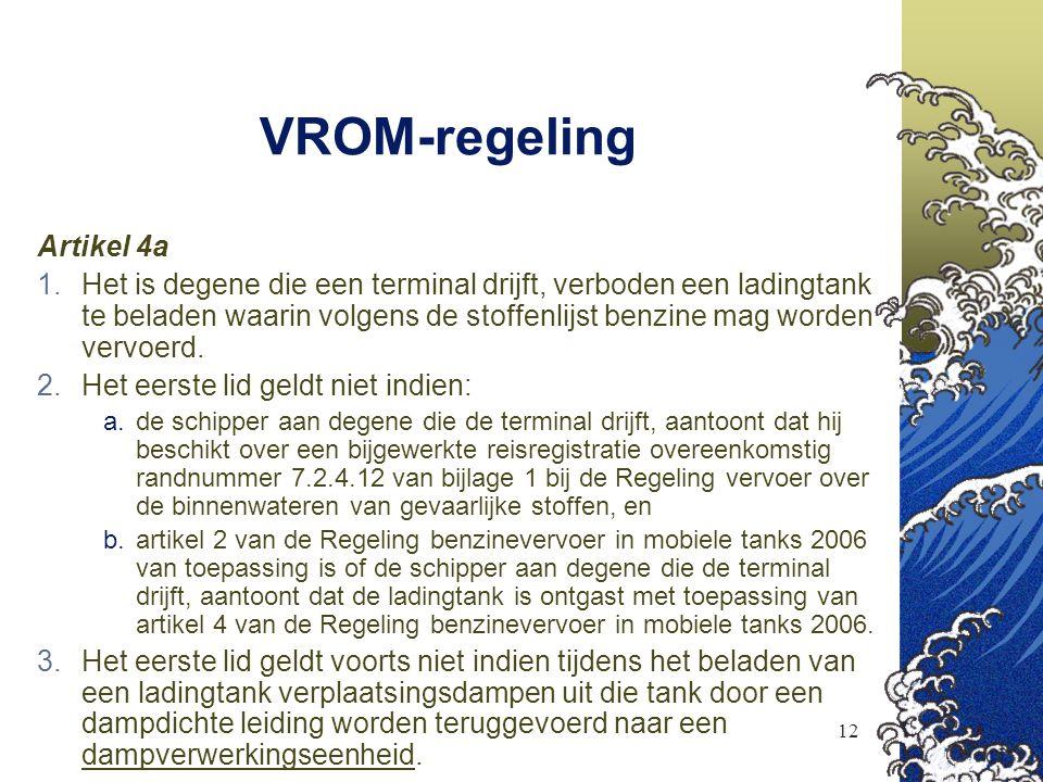 VROM-regeling Artikel 4a