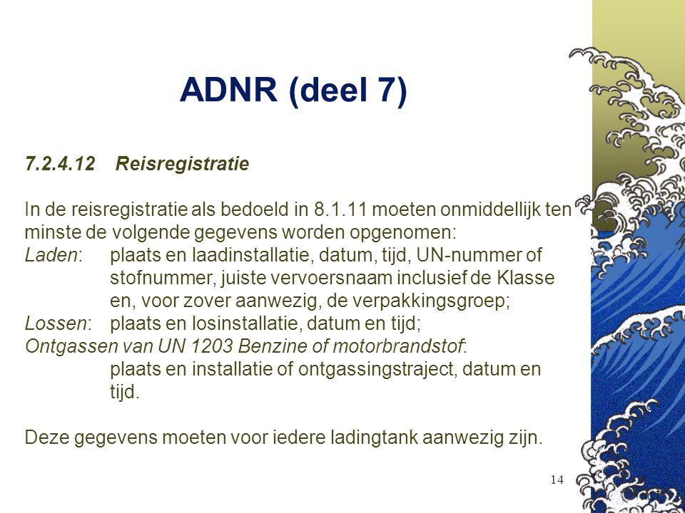 ADNR (deel 7) 7.2.4.12 Reisregistratie