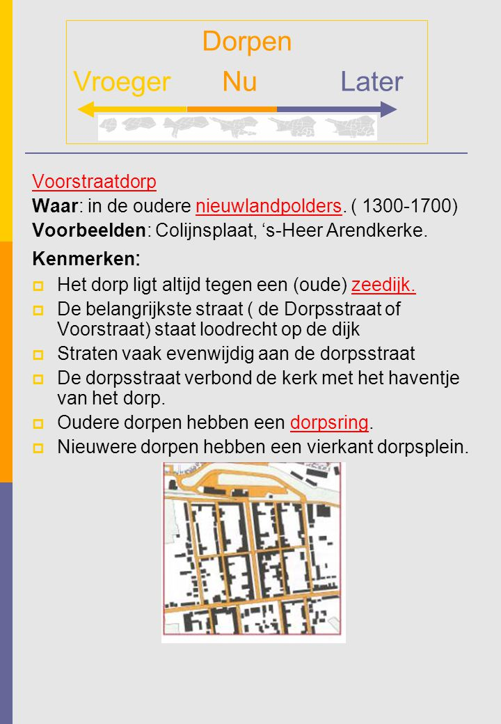 Dorpen Vroeger Nu Later Voorstraatdorp