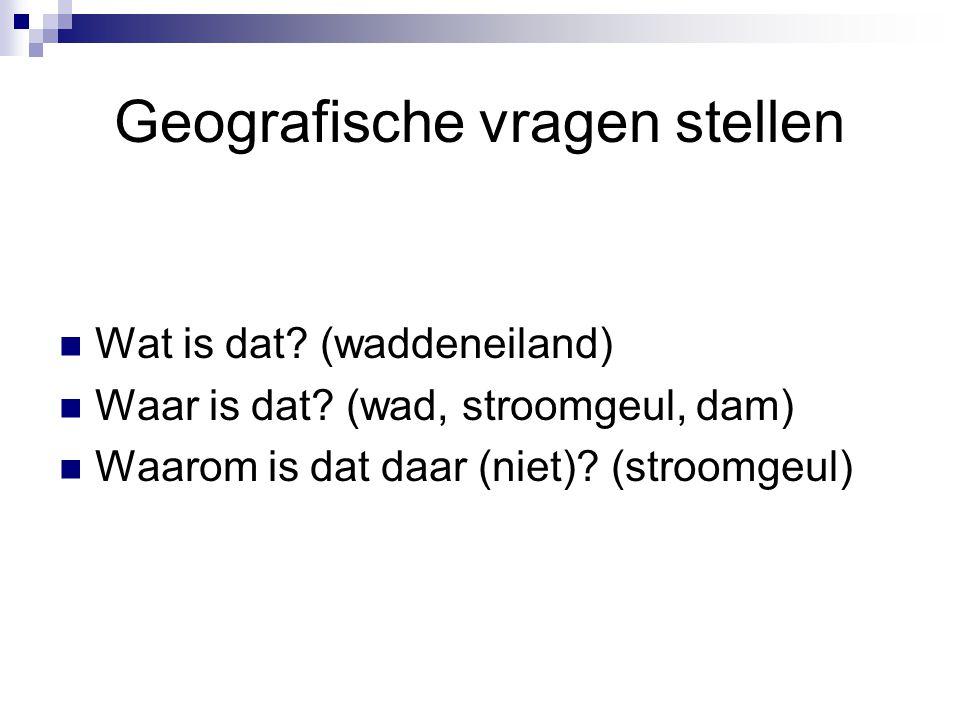 Geografische vragen stellen