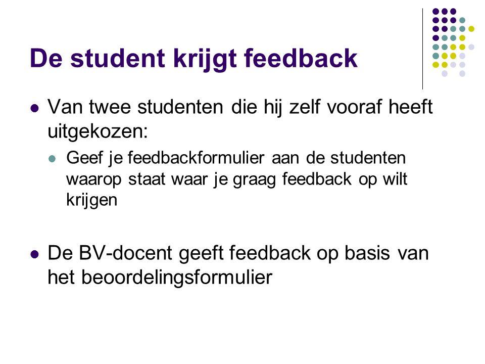 De student krijgt feedback
