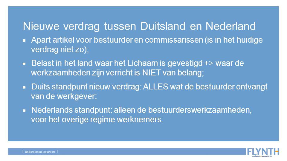 Nieuwe verdrag tussen Duitsland en Nederland