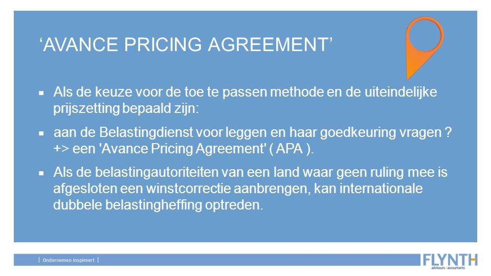 'AVANCE PRICING AGREEMENT'