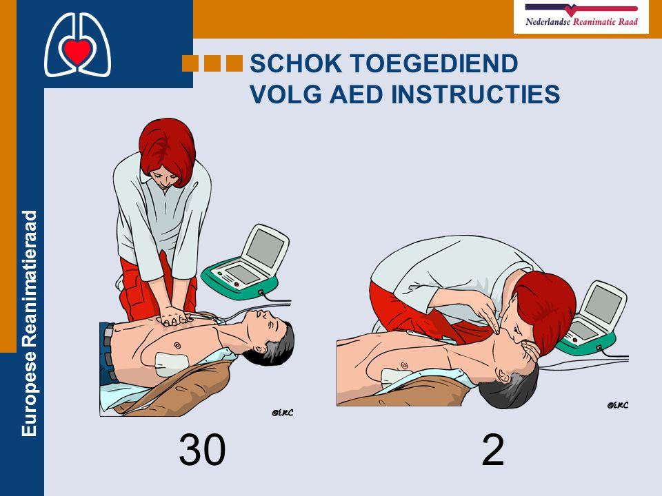 SCHOK TOEGEDIEND VOLG AED INSTRUCTIES