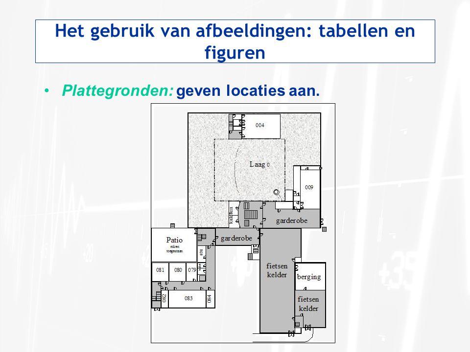 Het gebruik van afbeeldingen: tabellen en figuren