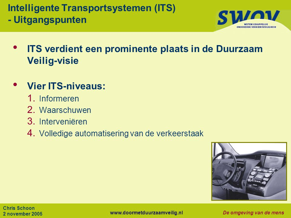 Intelligente Transportsystemen (ITS) - Uitgangspunten