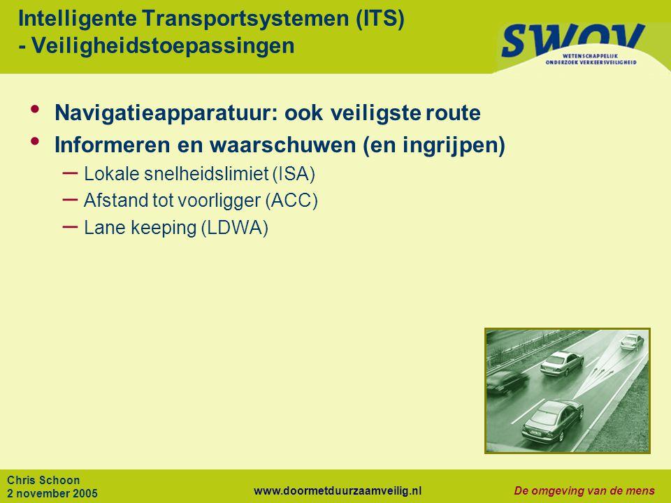 Intelligente Transportsystemen (ITS) - Veiligheidstoepassingen