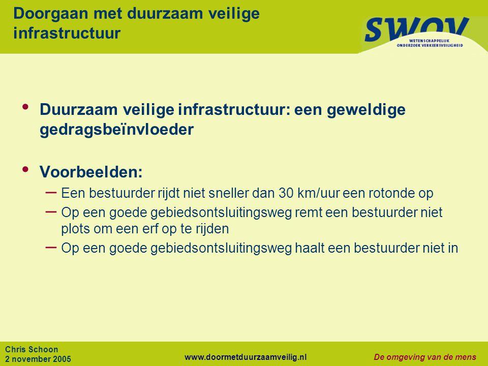 Doorgaan met duurzaam veilige infrastructuur