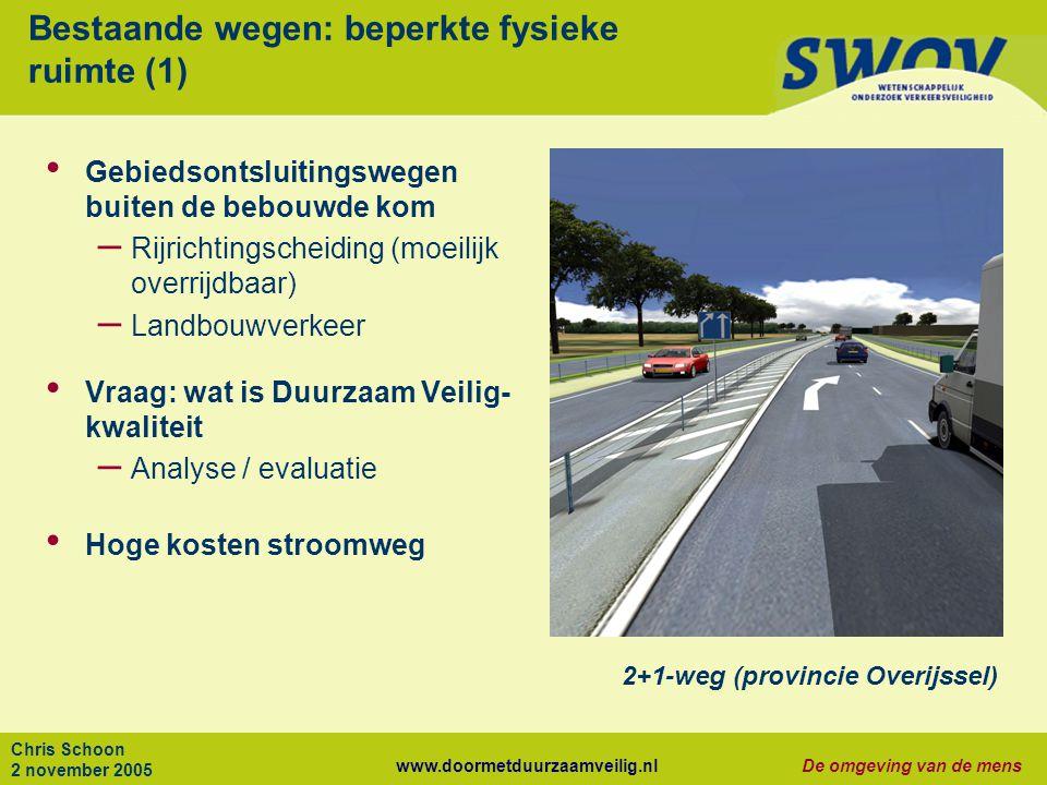 Bestaande wegen: beperkte fysieke ruimte (1)