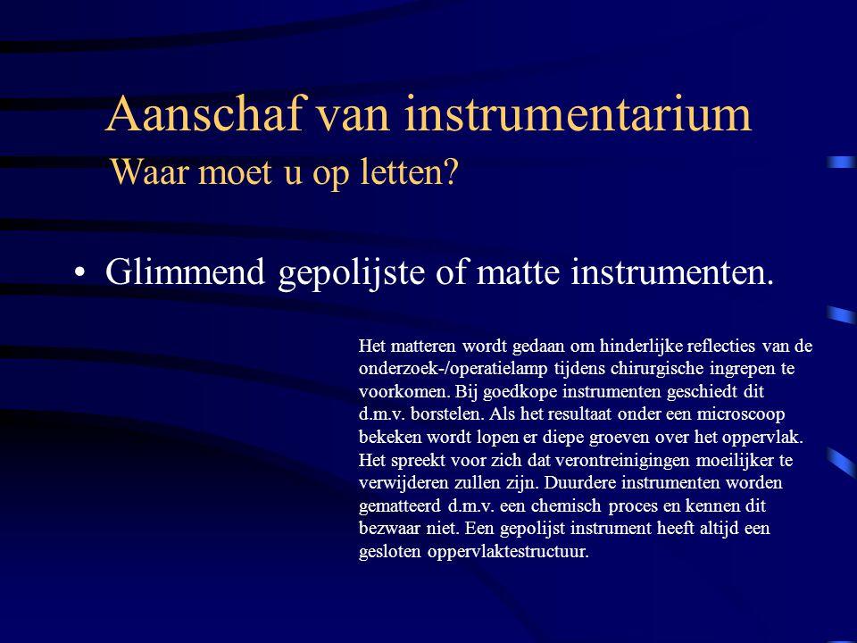 Aanschaf van instrumentarium