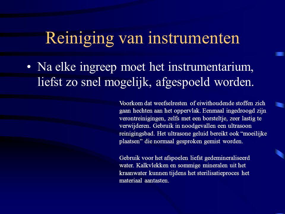 Reiniging van instrumenten