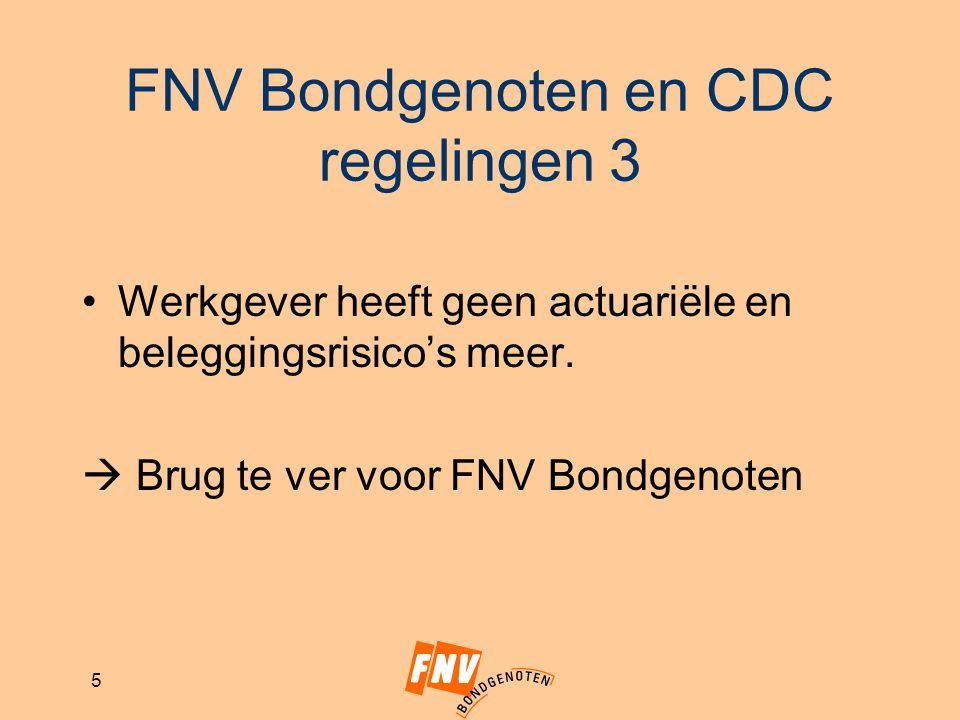 FNV Bondgenoten en CDC regelingen 3
