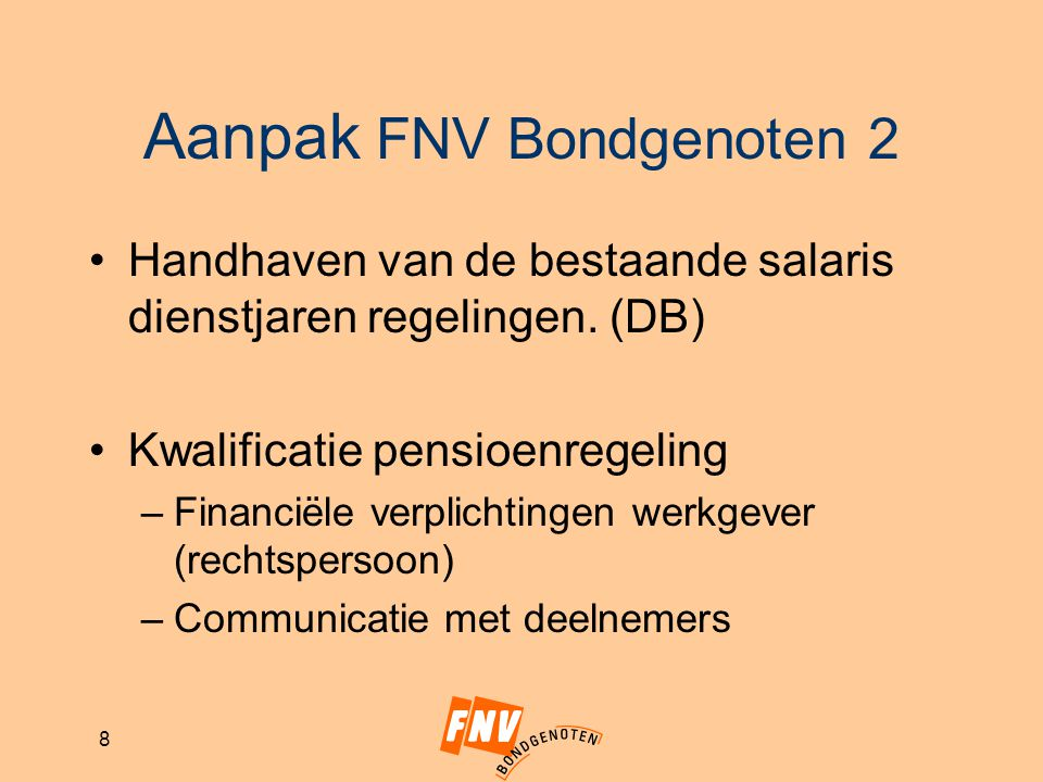 Aanpak FNV Bondgenoten 2