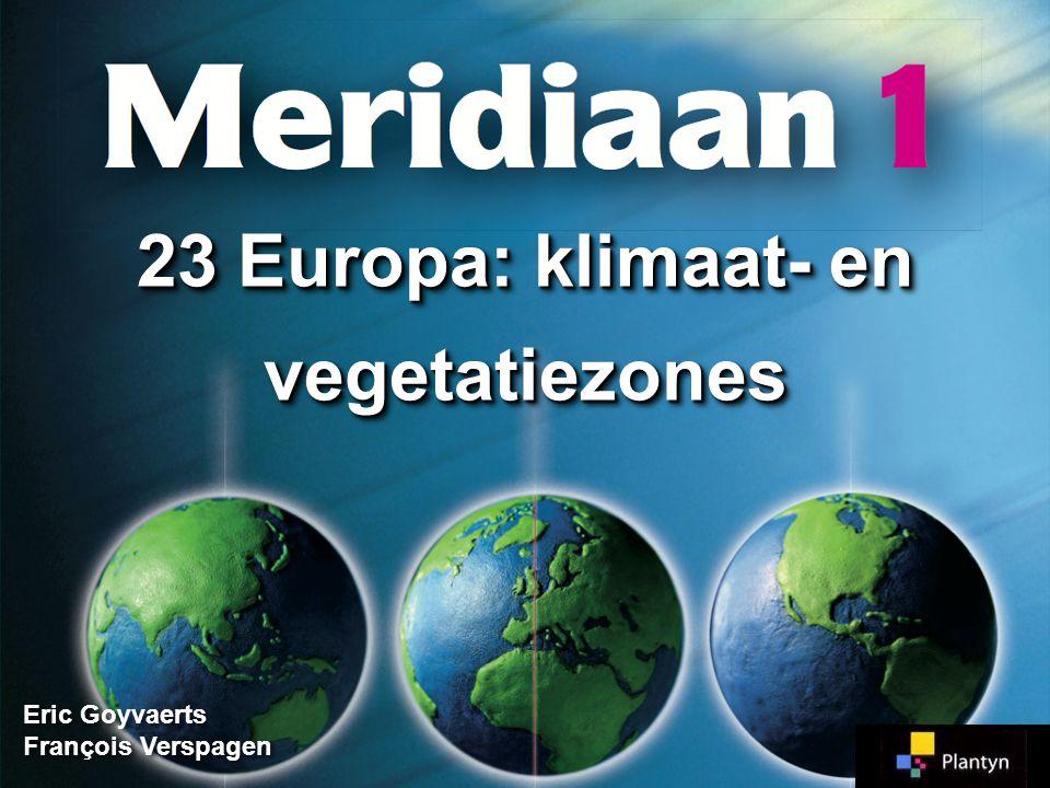 23 Europa: klimaat- en vegetatiezones