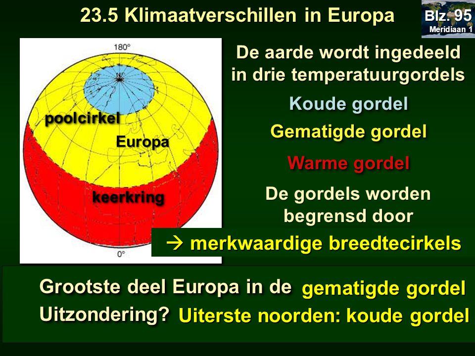 23.5 Klimaatverschillen in Europa  merkwaardige breedtecirkels