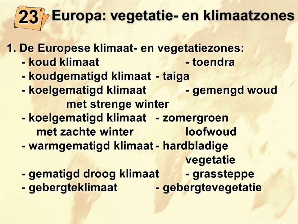 Europa: vegetatie- en klimaatzones